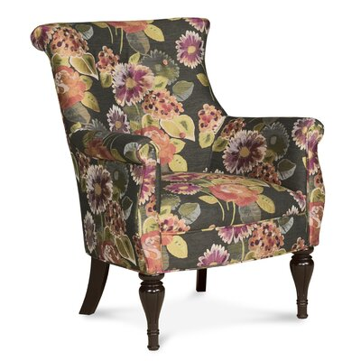 Bombe Traditional Wing back Chair Color: Coral
