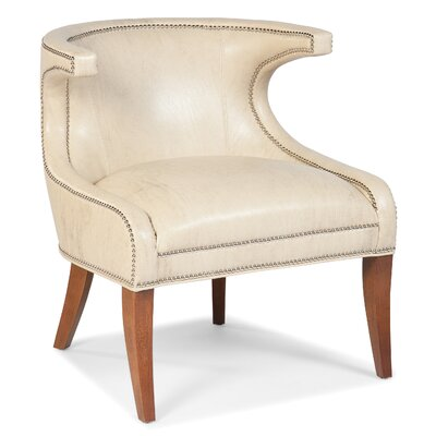 Transitional Accent Wing back Chair Color: Bone