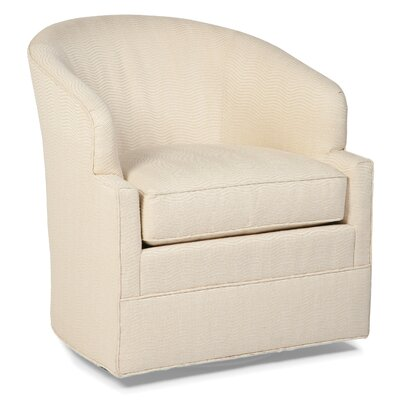 Transitional Swivel Barrel Chair Color: Walnut