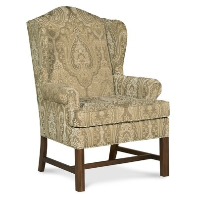 Chippendale Wingback Chair Color: Flax