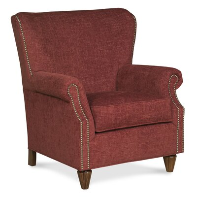 Curved Back Traditional Wingback Chair Color: Garnet