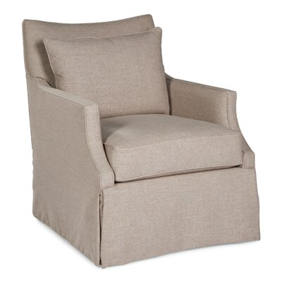 Skirted Pillow Swivel Armchair Upholstery: Ivory