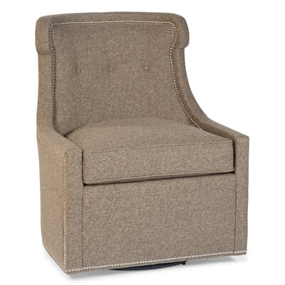 Transitional Swivel Side Chair  Color: Flax