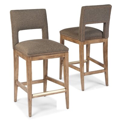 29.5 inch Bar Stool Upholstery: Charcoal
