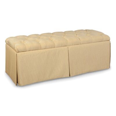 Tufted Top Skirted Storage Ottoman Upholstery: Sapphire