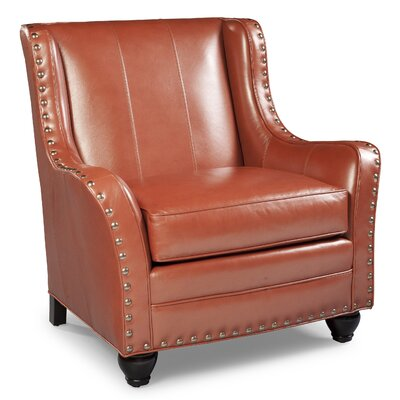 Nailhead Trimmed Armchair Color: Bone
