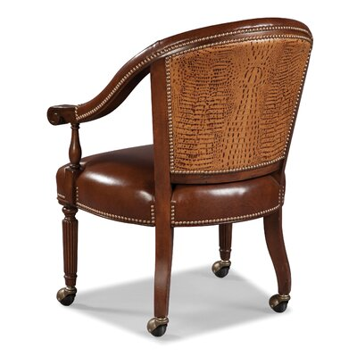 Castered Leather Armchair