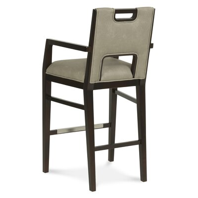 32 Bar Stool Upholstery: Black