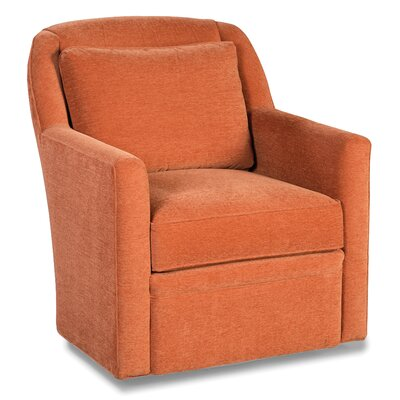 Pillow Back Swivel Armchair Color: Sand