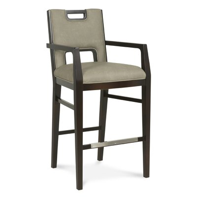 32 Bar Stool Upholstery: Cream