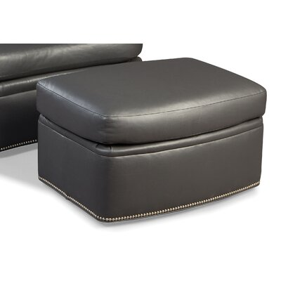 Leather Cocktail Ottoman Upholstery: Fairfield Slate