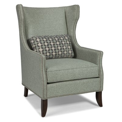 Transitional Wingback Chair Color: Indigo