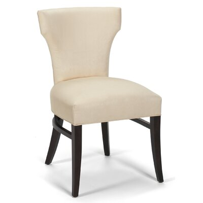 Tapered Leg Curved Back Side Chair Upholstery: Azure