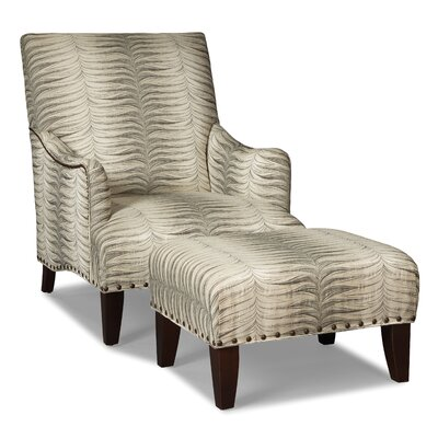 English Armchair and ottoman Upholstery: Bronze
