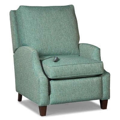 Narrow Arm Motorized Recliner Upholstery: Teal