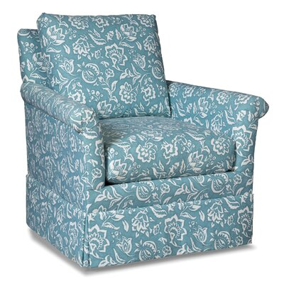Loose Pillow Back Swivel Armchair Upholstery: Seafoam