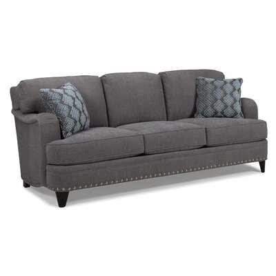 English Arm Sofa Upholstery: Pewter