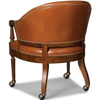 Castered Game Barrel Chair Upholstery: Merlot