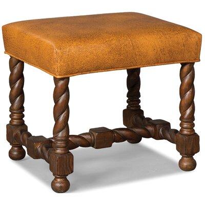 Twist Leg Leather Ottoman Upholstery: Saddle