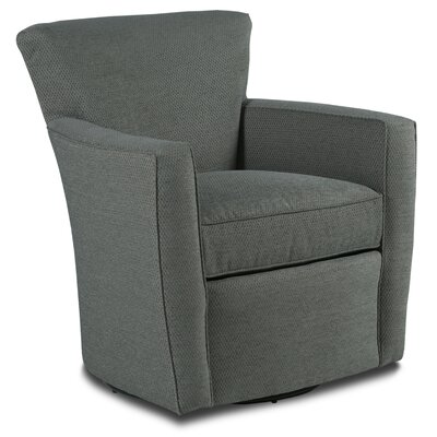 Transitional Swivel Armchair Upholstery: Rustic