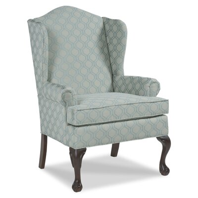 Ball and Claw Wingback Chair Upholstery: Seaspray
