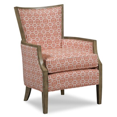 Wood Framed Armchair Upholstery: Salmon