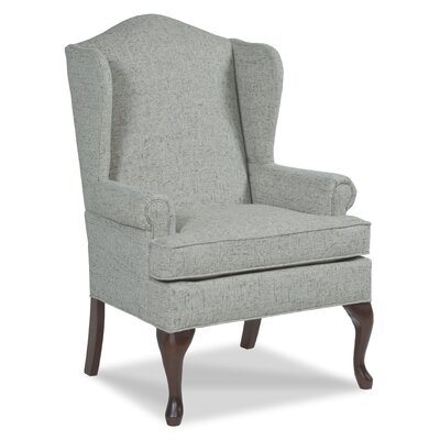 Queene Anne Wingback Chair Upholstery: Flax