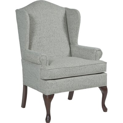 Queene Anne Wingback Chair Upholstery: Pottery