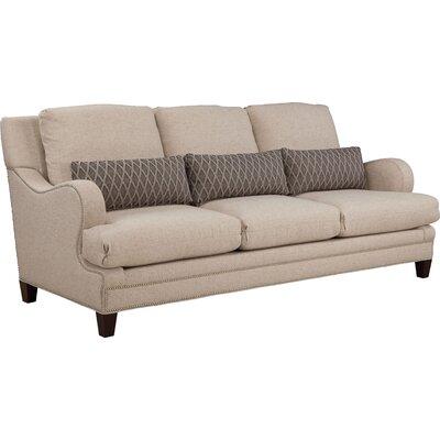 Layered Back Shaped English Arm Sofa Upholstery: Natural