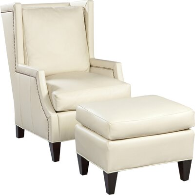 High Back Wingback Chair Upholstery: Pearl