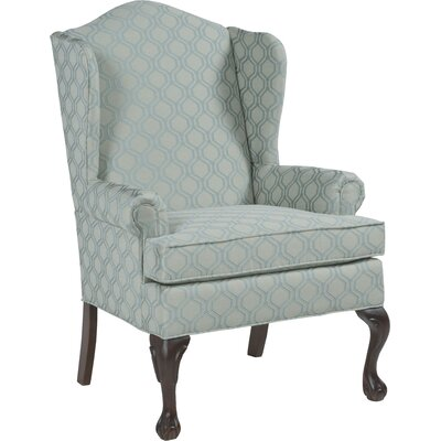 Ball and Claw Wingback Chair Upholstery: Gray