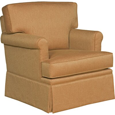 Loose Pillow Back Swivel Armchair Upholstery: Bamboo