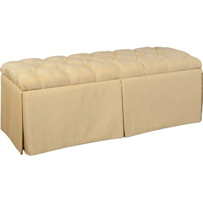 Tufted Top Skirted Storage Ottoman Upholstery: Cream
