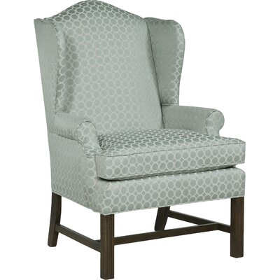 Chippendale Wingback Chair Upholstery: Mist