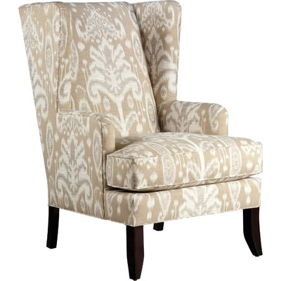Loose Seat Wingback Chair Upholstery: Ecru