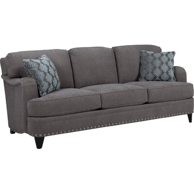 ENGLISH ARM SOFA UPHOLSTERY: SMOKE