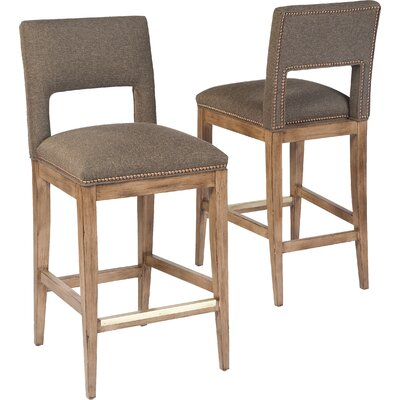 25.5 Bar Stool Upholstery: 9927 Charcoal