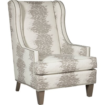 Narrow Wingback Chair Upholstery: 3845 Linen
