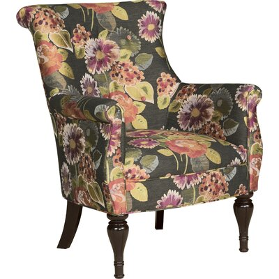 Bombe Wingback Chair Upholstery: 4943 Coral