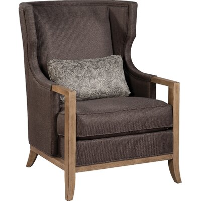Transitional Wingback Chair Upholstery: Charcoal