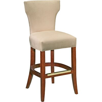 26.5 Bar Stool Upholstery: Pearl