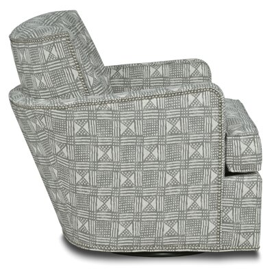 Blaire Swivel Armchair Body Fabric: 3009 Charcoal