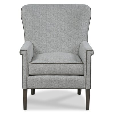 Ferris Wingback Chair Body Fabric: 9170 Pewter/9919 Midnight