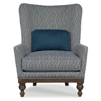 Butler Wingback Chair Body Fabric: 3585 Slate/3009 Charcoal
