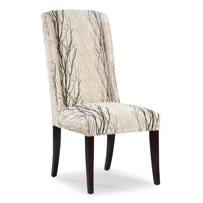 High Back Dining Side Chair Upholstery: Sable, Finish: Espresso