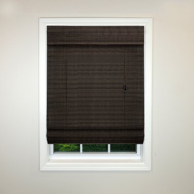 Semi-Sheer Roman Shade Size: 35 W x 72 L, Color: Coffee
