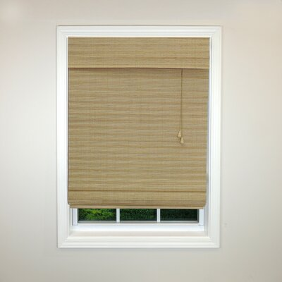Radiance Semi-Sheer Roman Shade Color: Wheat, Size: 52 W x 64 L