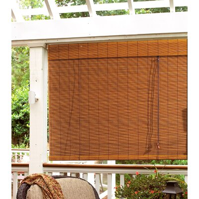 Semi-Sheer Fruitwood Roll-Up Shade Blind Size: 71 W x 71 L