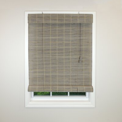 Radiance Semi-Sheer Roman Shade Size: 48 W x 72 L, Color: Warm Grey