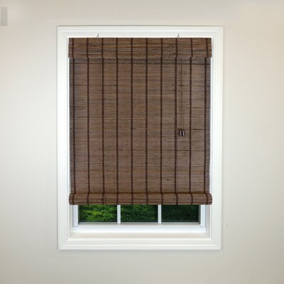 Radiance Semi-Sheer Roman Shade Color: Espresso, Size: 48 W x 72 L